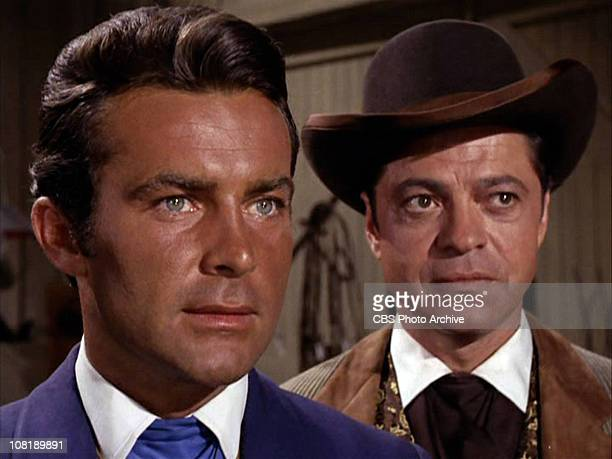 Robert Conrad as James T West and Ross Martin as Artemus Gordon in The Night of the Returning Dead season 2 episode 5 of the TV series THE WILD WILD...