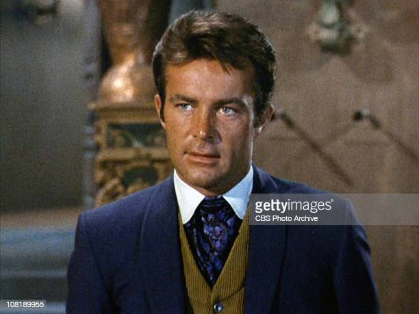 Robert Conrad as James T West in The Night of the Eccentrics season 2 episode 1 of THE WILD WILD WEST Airdate September 16 1966 Image is a screen grab