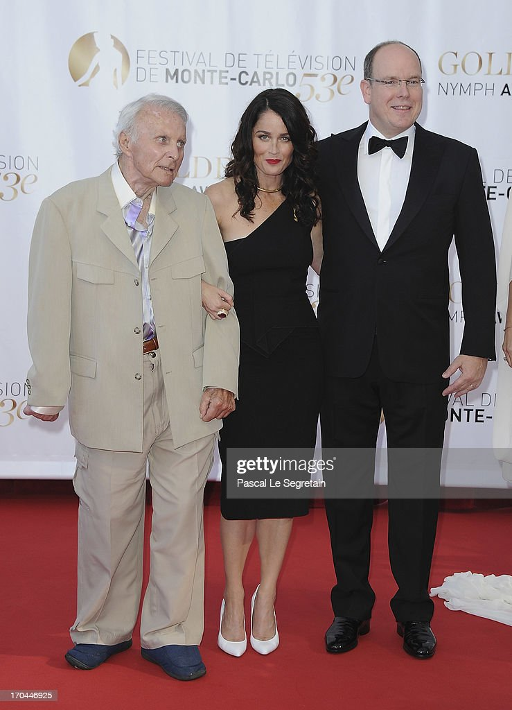 Robert Conrad, Robin Tunney and Prince Albert II of Monaco attend the closing ceremony of the 53rd Monte Carlo TV Festival on June 13, 2013 in Monte-Carlo, Monaco.