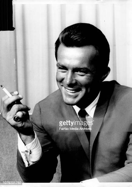 Robert Conrad star of Hawaiian Eye who reached Sydney by Qantas jet airliner from the United States today July 10 1964
