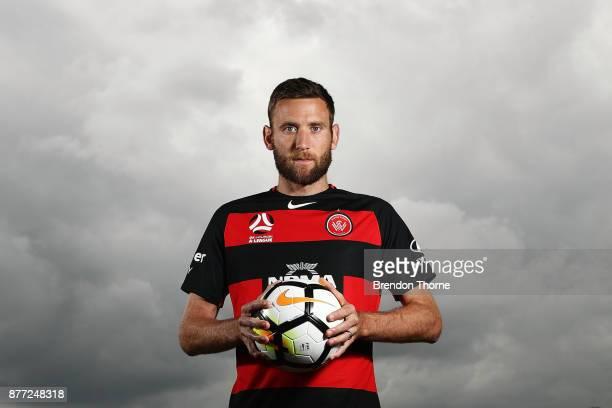 Robert Cornthwaite poses during the Western Sydney Wanderers captaincy announcement at Blacktown International Sportspark on November 22 2017 in...