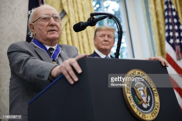 Robert Cousy former National Basketball Association player for the Boston Celtics speaks after accepting the Presidential Medal of Freedom from US...