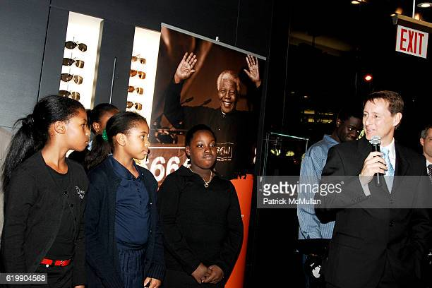 Robert Coutts and The Emmanuel Baptist Church New Generation Children's Choir attend MONTBLANC Celebrates The Vision of NELSON MANDELA & The Launch...