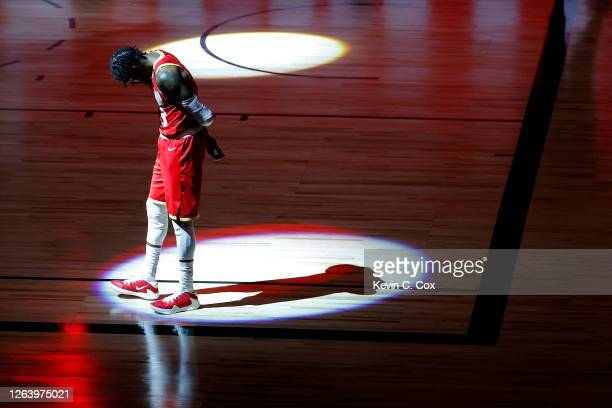 Robert Covington of the Houston Rockets stands on the court before the game against the Portland Trail Blazers at The Arena at ESPN Wide World Of...