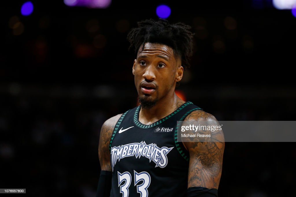 7c6230df51 Robert Covington of the Minnesota Timberwolves looks on against the ...