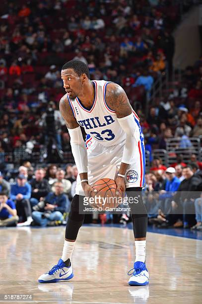 Robert Covington of the Philadelphia 76ers looks to pass the ball against the Indiana Pacers at the Wells Fargo Center on April 2 2016 in...