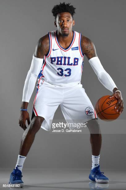 Robert Covington of the Philadelphia 76ers poses for a portrait during 201718 NBA Media Day on September 25 2017 at Wells Fargo Center in...
