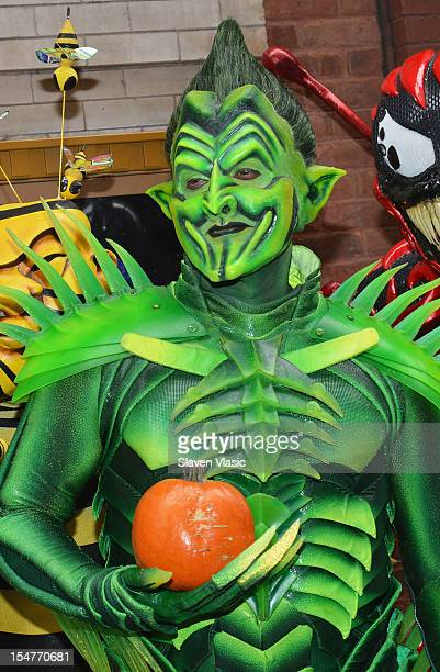 Robert Cuccioli as Green Goblin from the Broadway's SPIDERMAN Turn Off The Dark attend Halloween Safety Press Conference outside of Foxwoods Theater...