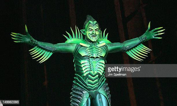 Robert Cuccioli during the curtain call for Broadway's SpiderMan Turn Off The Dark at The Foxwoods Theatre on August 7 2012 in New York City Robert...