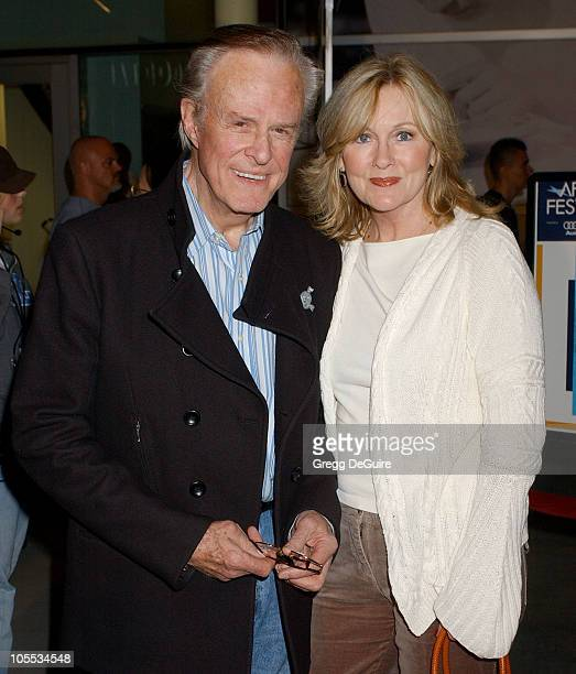 Robert Culp and guest during AFI FEST 2005 presented by Audi Breakfast on Pluto Screening Arrivals at ArcLight Hollywood in Hollywood California...