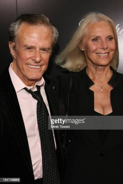 Robert Culp and Sivi Aberg during Hollywoodland Los Angeles Premiere Arrivals at Academy of Motion Picture Arts and Sciences in Hollywood California...