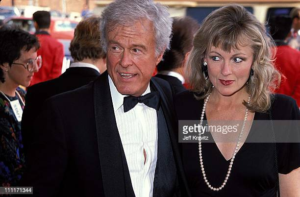 Robert Culp & Candace Faulkner during 1988 American Comedy Awards in Los Angeles, California, United States.