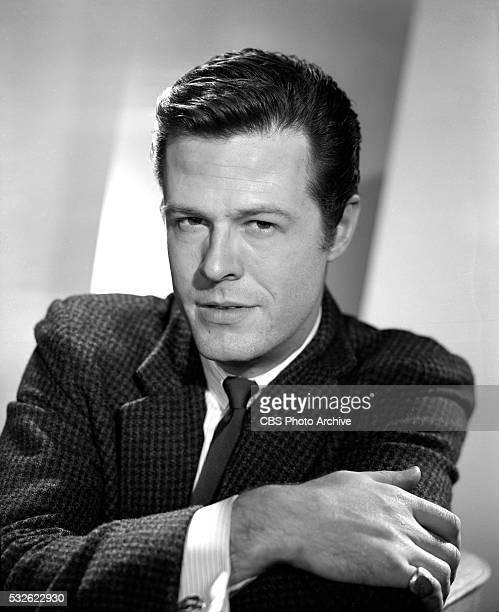 Robert Culp poses for portraits and incharacter shots for the western television series Trackdown He portrays Texas Ranger Hoby Gilman Image dated...