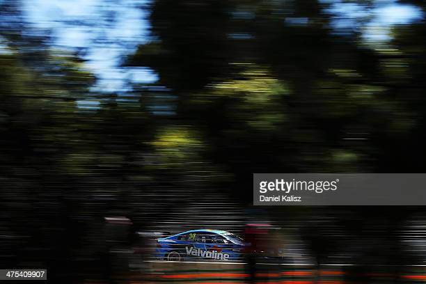 Robert Dahlgren drives the Valvoline Racing Volvo during practice for the Clipsal 500 which is round one of the V8 Supercar Championship Series at...