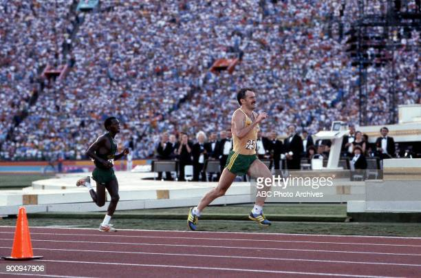 Robert de Castella Men's Track marathon competition Memorial Coliseum at the 1984 Summer Olympics August 12 1984