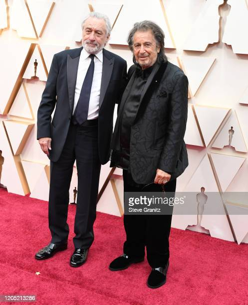 Robert De Niro and Al Pacino arrives at the 92nd Annual Academy Awards at Hollywood and Highland on February 09 2020 in Hollywood California