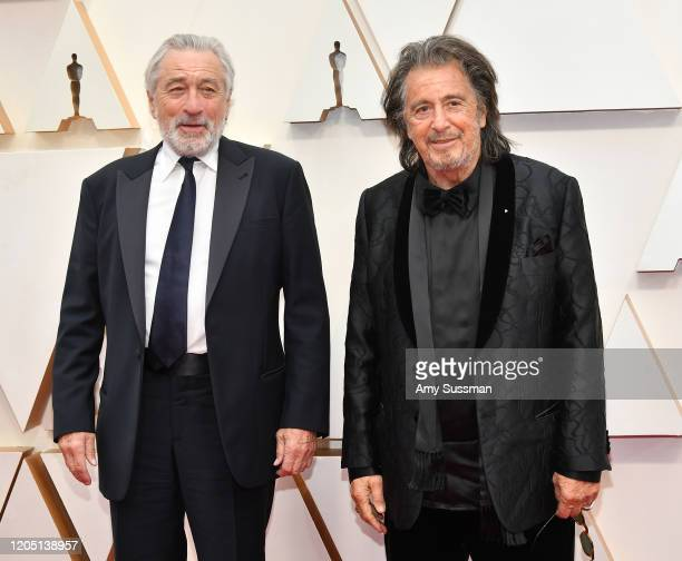 Robert De Niro and Al Pacino attend the 92nd Annual Academy Awards at Hollywood and Highland on February 09, 2020 in Hollywood, California.