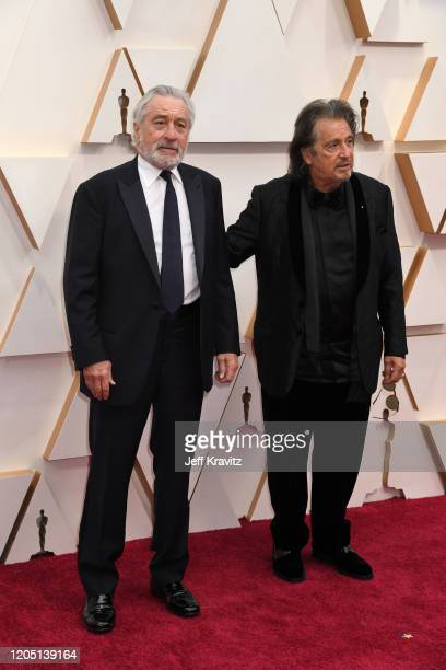 Robert De Niro and Al Pacino attend the 92nd Annual Academy Awards at Hollywood and Highland on February 09 2020 in Hollywood California