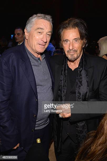 Robert De Niro and Al Pacino attend the SeriousFun Children's Network Gala at Cipriani 42nd Street on April 2, 2014 in New York City.