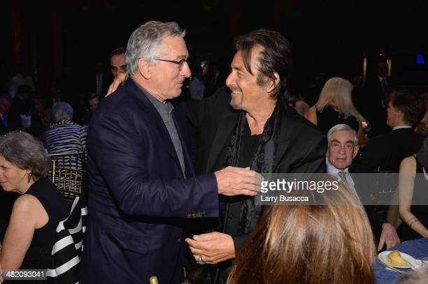 Robert De Niro and Al Pacino attend the SeriousFun Children's Network Gala at Cipriani 42nd Street on April 2 2014 in New York City