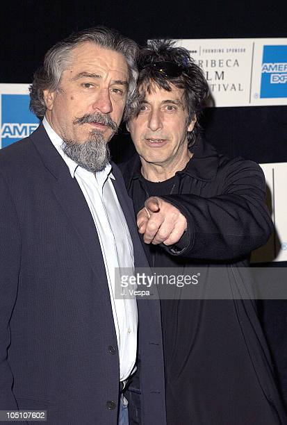 Robert De Niro and Al Pacino during 2003 Tribeca Film Festival 'Chinese Coffee' Screening at Tribeca Performing Arts Center in New York New York...