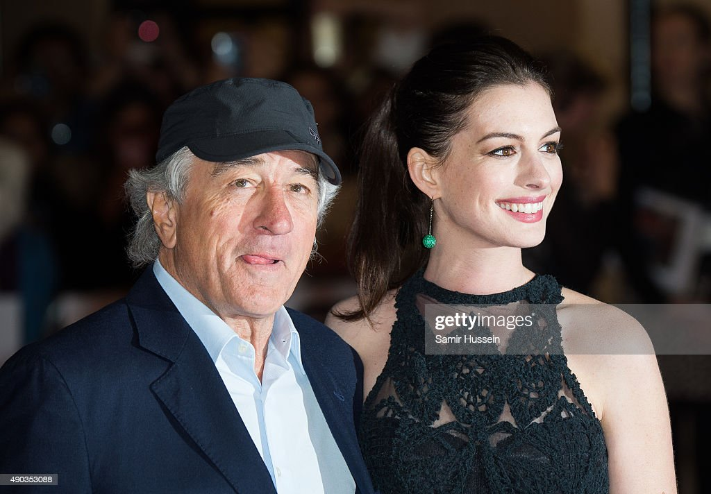 Robert De Niro and Anne Hathaway attends the UK Premiere of 'The Intern' at Vue West End on September 27, 2015 in London, England.