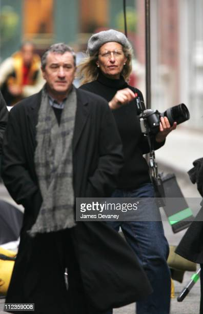 Robert De Niro and Annie Leibovitz during Annie Leibovitz Photo Shoot with Robert De Niro November 18 2004 at Tribeca New York City in New York City...