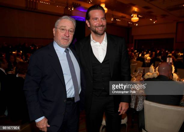 Robert De Niro and Bradley Cooper pose in the audience during A Legacy Of Changing Lives presented by the Fulfillment Fund at The Ray Dolby Ballroom...