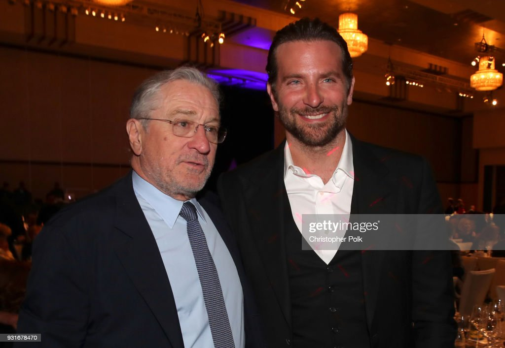 Robert De Niro (L) and Bradley Cooper pose in the audience during A Legacy Of Changing Lives presented by the Fulfillment Fund at The Ray Dolby Ballroom at Hollywood & Highland Center on March 13, 2018 in Hollywood, California.