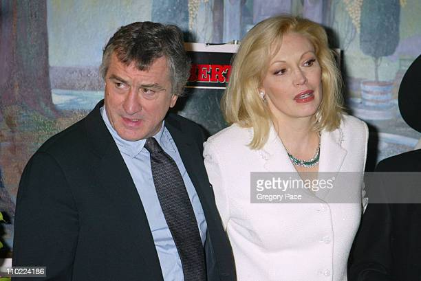 Robert De Niro and Cathy Moriarty during 'Raging Bull' 25th Anniversary and Collector's Edition DVD Release Celebration Inside Arrivals at Ziegfeld...