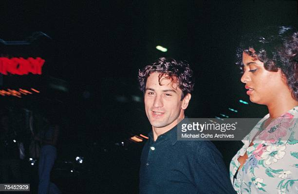 1970s: Robert De Niro and Diahnne Abbott enjoy themselves at the Roxy Theater circa the mid-1970s in Los Angeles, California.