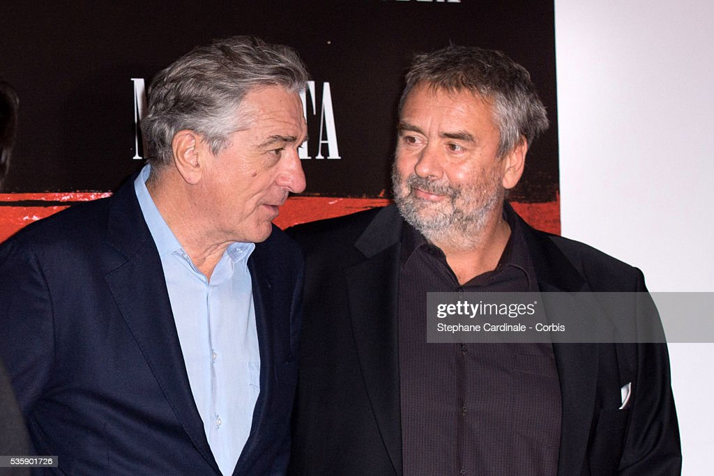 Robert De Niro and director Luc Besson attend the 'Malavita' premiere at Europacorp Cinemas at Aeroville Shopping Center, in Roissy-en-France, France.