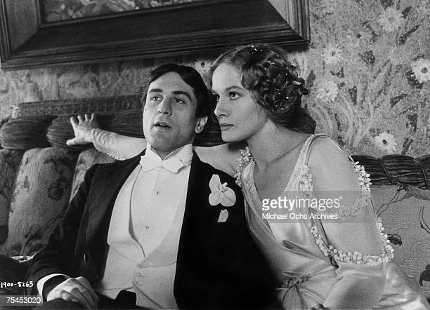 Robert De Niro and Dominique Sanda perform a scene in 1900 directed by Bernardo Bertolucci in 1976 in Rome, Italy.