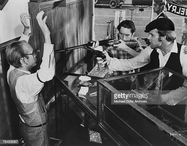 Robert De Niro and Don Stroud perform a scene in Bloody Mama in 1970 in Little Rock Arkansas