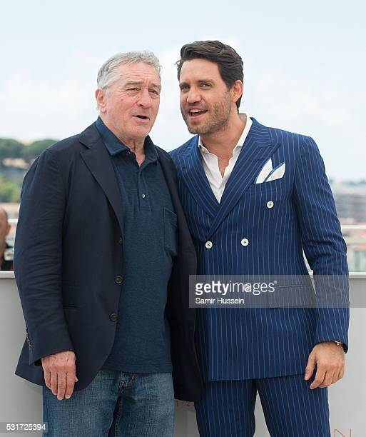 Robert De Niro and Edgar Ramirez attend the 'Hands Of Stone' Photocall at the annual 69th Cannes Film Festival at Palais des Festivals on May 16 2016...