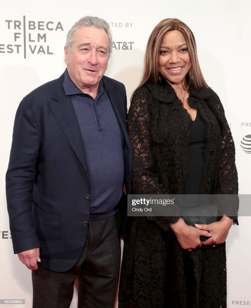 Robert De Niro and Grace Hightower attend Showtime's World Premiere of The Fourth Estate at Tribeca Film Festival Screening at BMCC Tribeca Performing Arts Center on April 28, 2018 in New York City.