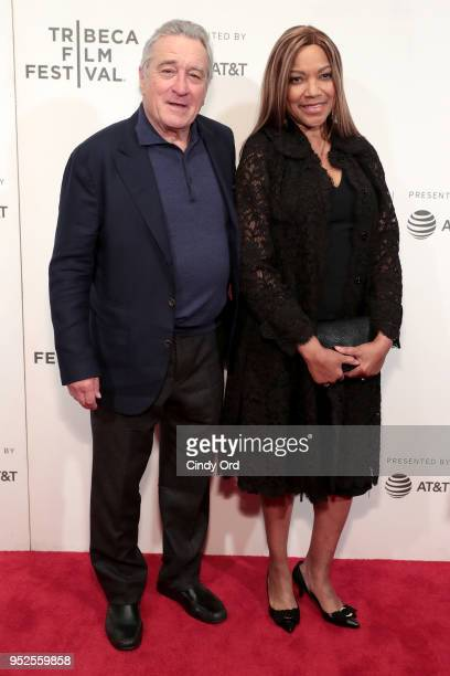 Robert De Niro and Grace Hightower attend Showtime's World Premiere of The Fourth Estate at Tribeca Film Festival Screening at BMCC Tribeca...