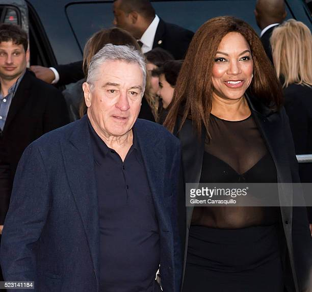 Robert De Niro and Grace Hightower attend 'Taxi Driver' 40th Anniversary Celebration during 2016 Tribeca Film Festival at The Beacon Theatre on April...