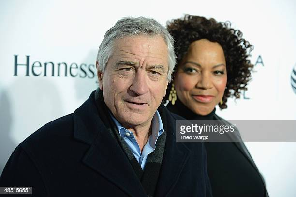 Robert De Niro and Grace Hightower attend the 2014 Tribeca Film Festival Opening Night Premiere of Time Is Illmatic at The Beacon Theatre on April 16...