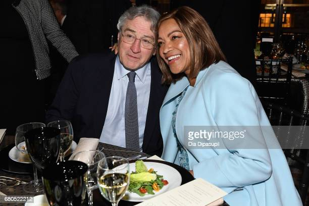 Robert De Niro and Grace Hightower attend the 44th Chaplin Award Gala at David H Koch Theater at Lincoln Center on May 8 2017 in New York City