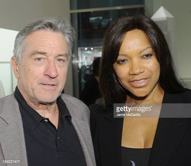 Robert De Niro and Grace Hightower attend the Americans for Marriage Equality launch at Calvin Klein Collection on November 28 2011 in New York City