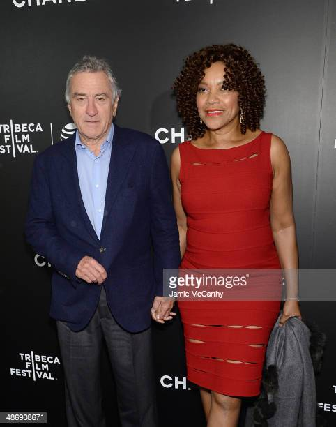 """Robert De Niro and Grace Hightower attend the closing night gala premiere of """"Begin Again"""" during the 2014 Tribeca Film Festival at BMCC Tribeca PAC..."""