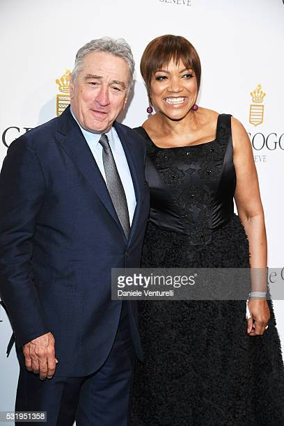 Robert De Niro and Grace Hightower attend the De Grisogono Party at the annual 69th Cannes Film Festival at Hotel du CapEdenRoc on May 17 2016 in Cap...