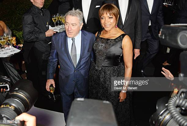 Robert De Niro and Grace Hightower attend the de Grisogono party during the 69th Cannes Film Festival at Hotel du CapEdenRoc on May 17 2016 in Cap...