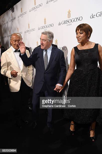 Robert De Niro and Grace Hightower attend the De Grisogono Party during the annual 69th Cannes Film Festival at Hotel du CapEdenRoc on May 17 2016 in...