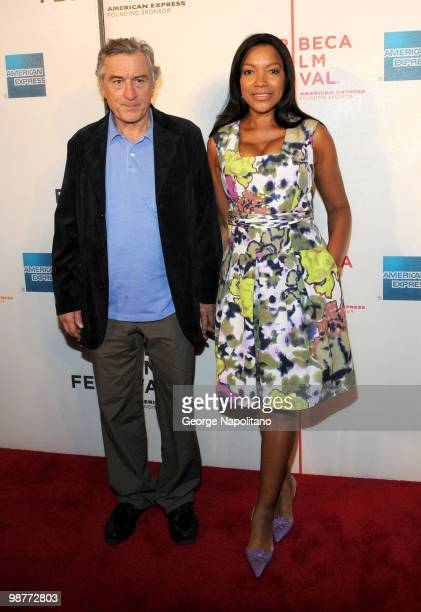 """Robert De Niro and Grace Hightower attend the """"Freakonomics"""" premiere during the 9th Annual Tribeca Film Festival at the Tribeca Performing Arts..."""