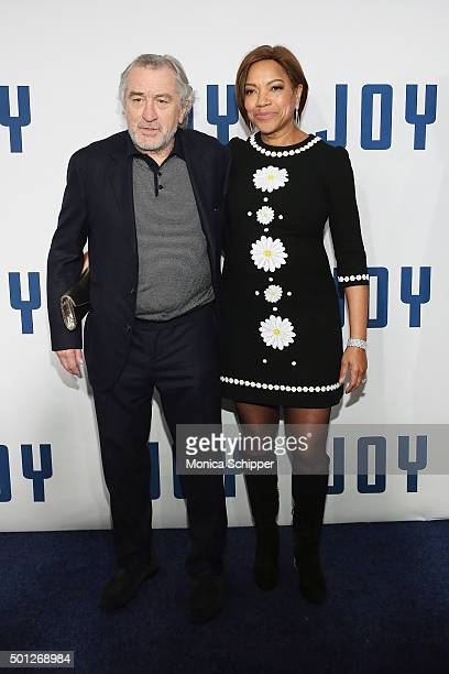 Robert De Niro and Grace Hightower attend the 'Joy' New York premiere at Ziegfeld Theater on December 13 2015 in New York City