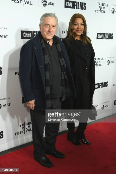 Robert De Niro and Grace Hightower attend the Opening Night Gala of Love Gilda 2018 Tribeca Film Festival at Beacon Theatre on April 18 2018 in New...