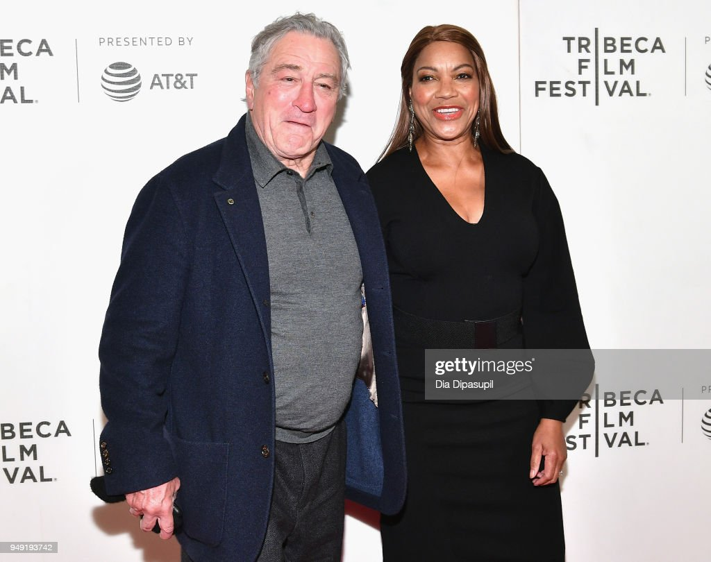 Robert De Niro and Grace Hightower attend the 'Rest In Power: The Trayvon Martin Story' premiere during the 2018 Tribeca Film Festival at BMCC Tribeca PAC on April 20, 2018 in New York City.