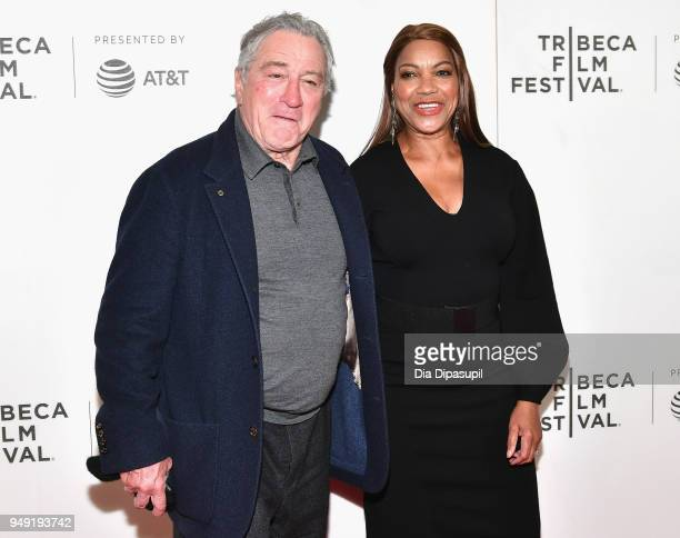 Robert De Niro and Grace Hightower attend the Rest In Power The Trayvon Martin Story premiere during the 2018 Tribeca Film Festival at BMCC Tribeca...